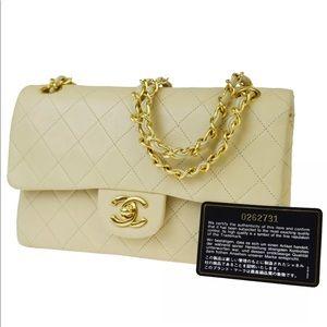CHANEL CC Double Flap Matelasse Chain Shoulder Bag